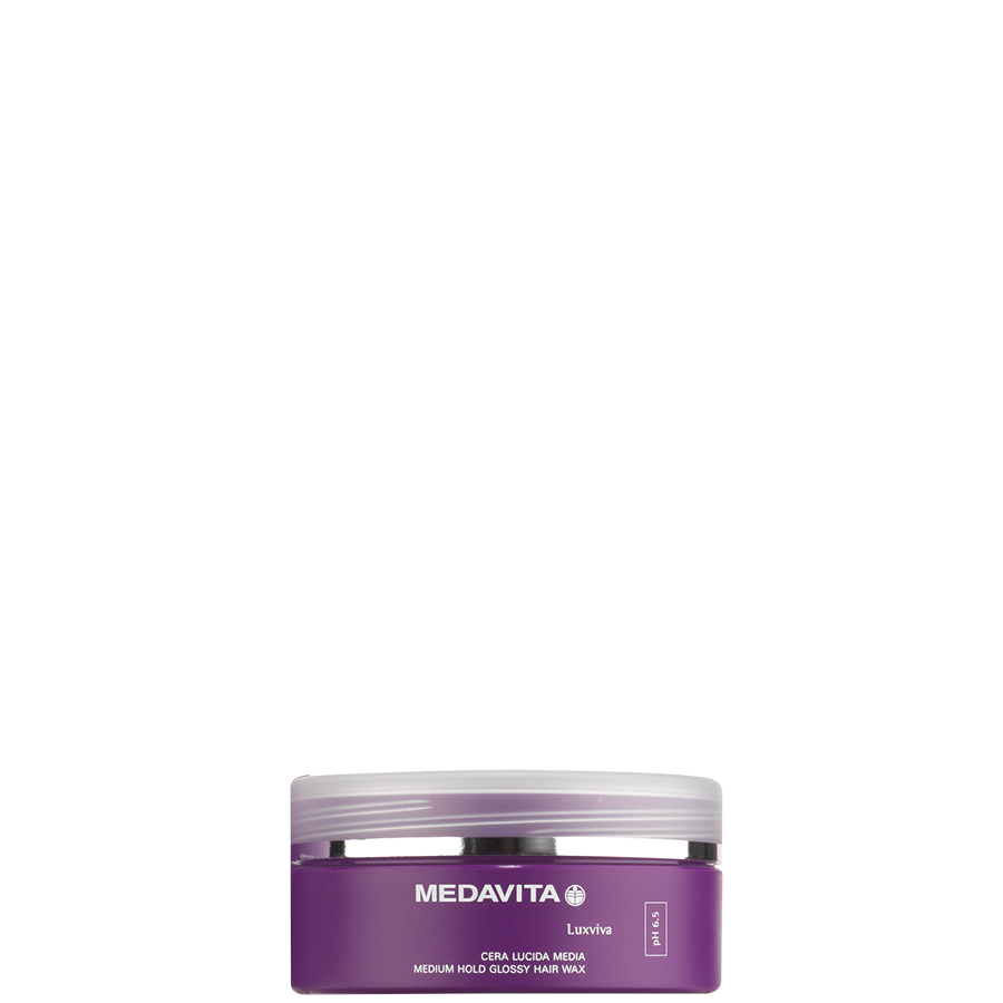 Medium hold glossy hair wax
